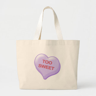 Too Sweet Candy Heart Large Tote Bag