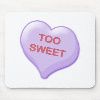 Too Sweet Candy Heart Mouse Pad