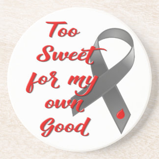 Too Sweet - Diabetes Ribbon Gift Coaster