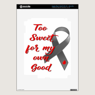 Too Sweet - Diabetes Ribbon Gift Decal For iPad 3