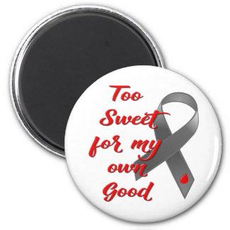 Too Sweet - Diabetes Ribbon Gift Magnet