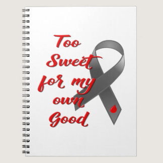 Too Sweet - Diabetes Ribbon Gift Notebook