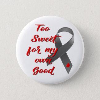 Too Sweet - Diabetes Ribbon Gift Pinback Button