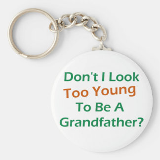 Too Young Grandpa Basic Round Button Keychain