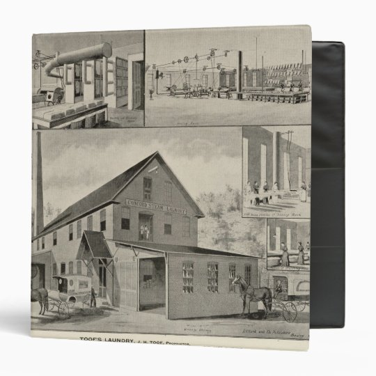 Toof's Laundry, Concord, NH 3 Ring Binder