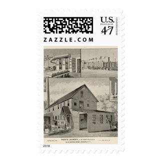 Toof's Laundry, Concord, NH Postage Stamp