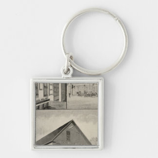 Toof's Laundry, Concord, NH Silver-Colored Square Keychain