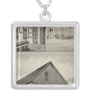 Toof's Laundry, Concord, NH Square Pendant Necklace