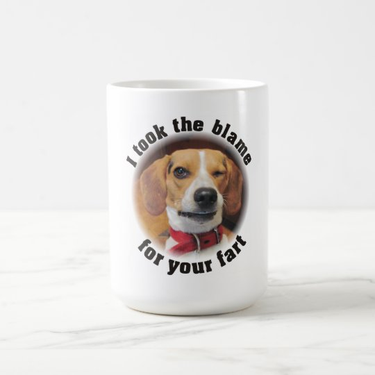Took the blame for your fart Funny Beagle Dog Mug