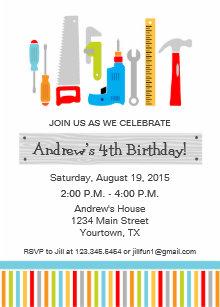 Tool invitations zazzle tool birthday party invitation filmwisefo