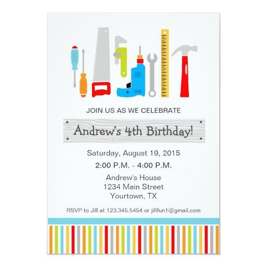 Tool birthday party invitation zazzle tool birthday party invitation filmwisefo