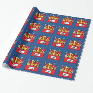 Tool Box Name Customizable Wrapping Paper