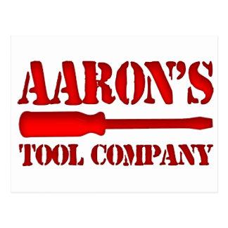Tool Company de Aaron's Tarjetas Postales