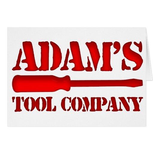 Tool Company de Adam's Tarjeta De Felicitación