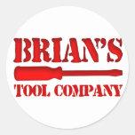 Tool Company de Brian Etiquetas Redondas