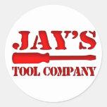 Tool Company de Jay Pegatina Redonda