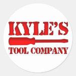 Tool Company de Kyle Pegatinas Redondas