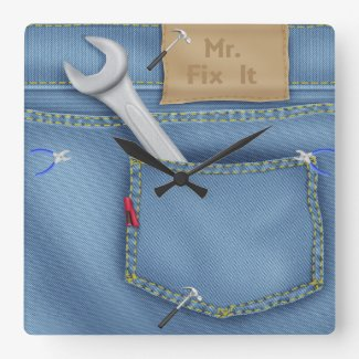 Tool / Denim Pocket Clock