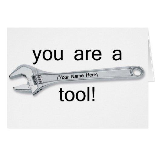 Tool Greeting Card