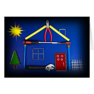 Tool House  (Congratulations Newly Built Home) Greeting Card