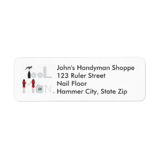 Tool Man spelled with Tools Return Address Labels