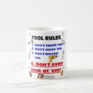 Tool Rules Humorous Wood Shop Dad Father Garage Coffee Mug