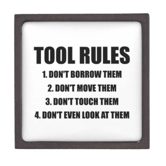 Tool Rules Jewelry Box