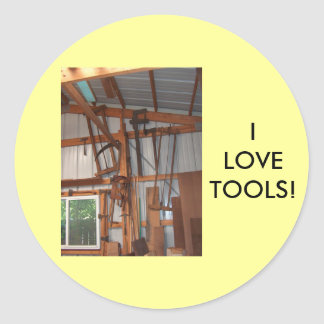 Tool Shed Products Classic Round Sticker