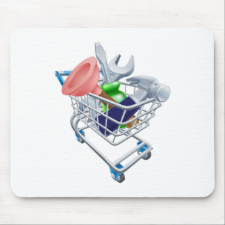 Tool shopping cart mousepad