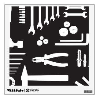 Tool Silhouette Pattern Wall Decal
