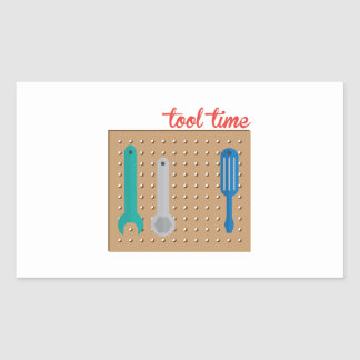 Tool Time Rectangle Sticker