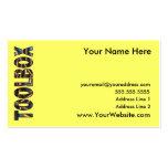 Toolbox Biz Card 2 Business Card Templates