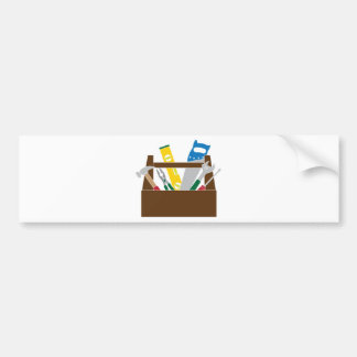 Toolbox with Construction Tools Color Illustration Bumper Sticker
