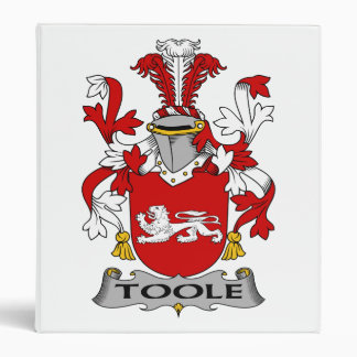 Toole Family Crest 3 Ring Binder