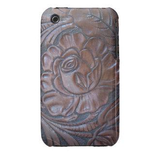 Tooled Dark Leather S Phone Case Case-Mate iPhone 3 Cases