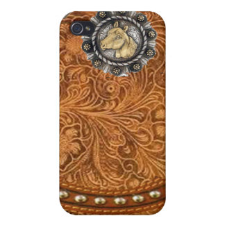 """Tooled Leather """"Comanche"""" Western IPhone 4 Case"""