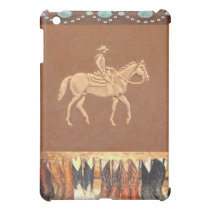 "Tooled Leather ""Cowboy"" Western IPad Case"