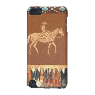 """Tooled Leather """"Cowboy"""" Western IPod Touch Case"""