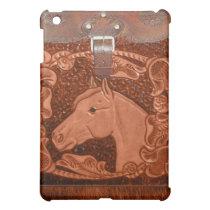 "Tooled Leather ""Horse"" Western IPad Case"