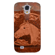 """Tooled Leather """"Horse"""" Western IPhone 3 Case"""