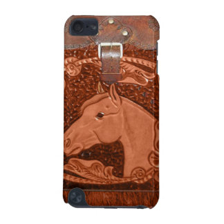 """Tooled Leather """"Horse"""" Western IPod Touch Case"""