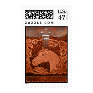 """Tooled Leather """"Horse"""" Western Postage Stamps"""