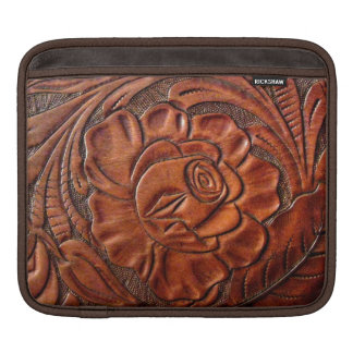 Tooled Leather iPad Sleeve