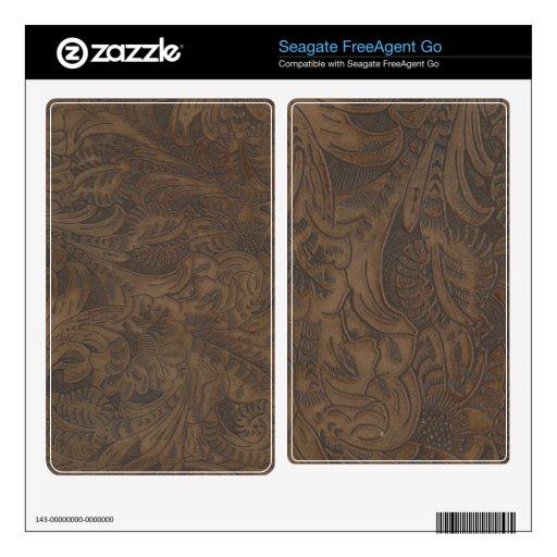 Tooled Leather-look 4 Western Seagate HDDrive Skin Skins For FreeAgent Go