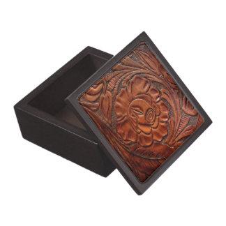 Tooled Leather Premium Gift Box