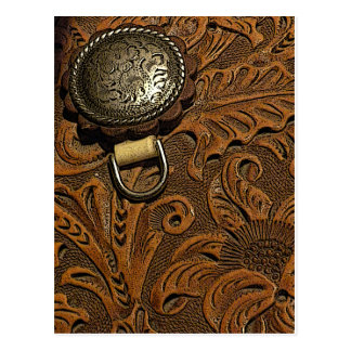 Tooled Leather Saddle Postcard