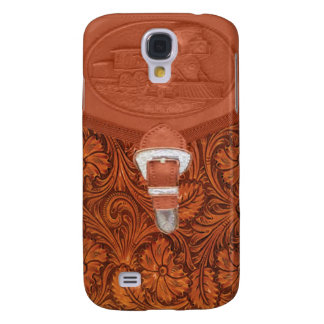 Tooled Leather Steam Engine IPhone 3 Case