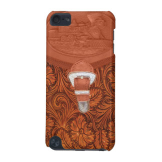 Tooled Leather Steam Engine IPod Touch Case