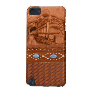 Tooled Leather Train IPod Touch Case
