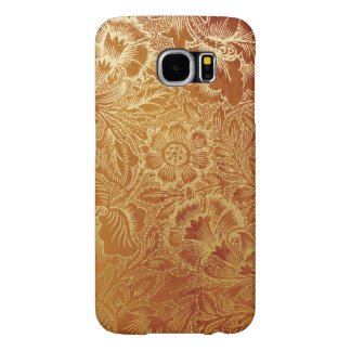 Tooled Western Leather Southwestern Amber Brown Samsung Galaxy S6 Case